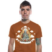 Image of Buddha Bot Shirt - Mens/Unisex Texas orange shirt