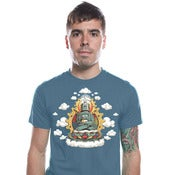 Image of Buddha Bot Shirt - Mens/Unisex Blue