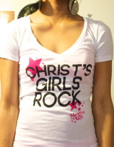 Image of Christ's Girls Rock [White]