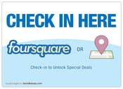 "Image of Buzz Badge - ""Check-In Here"" Window/Door Stickers and Clings"