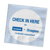 "Image of Buzz Badge - ""Check-In Here"" Napkins"