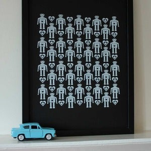 Image of Tiny Retro Robots limited edition print