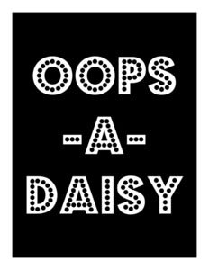 Image of 'Oops-A-Daisy' Giclee Print