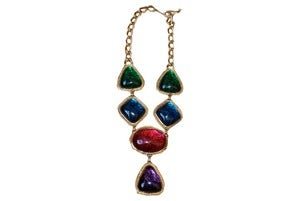 Image of '86 Kenneth J. Lane Drop Jewels Necklace
