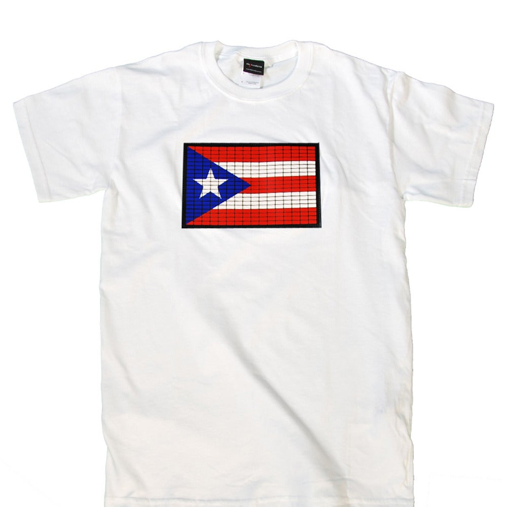 Image of Puerto Rican Flag (white)