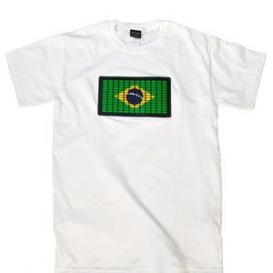 Image of Brazilian Flag (white)