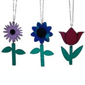 Image of Ltd. Edition Flower Necklaces made from recycled vinyl records.