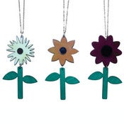 Image of Ltd. Edition Flower Necklaces made from recycled vinyl records