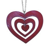 Image of Ltd. Edition Hearts and Hearts Design Necklace made from a recycled vinyl record.