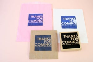 Image of Large Custom Favor Bag Rubber Stamp