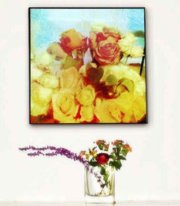 Image of ♥Vintage Style Abstract Art Canvas-BOUQUET♥