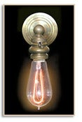 Image of F1900 Horseshoe 40 watt Reproduction Vintage Style Light Bulb