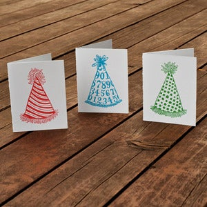 Image of Party Hats Card Set