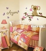 Image of Koala Bear Wall Sticker Decal Nursery Kids Room Baby KK112