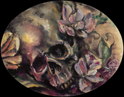 Image of Oval Skull Study in Oil