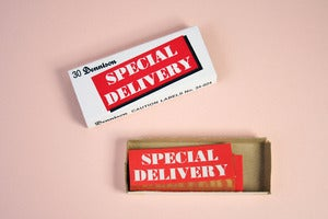 Image of Vintage Special Delivery Dennison Labels
