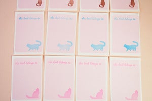 Image of Cat bookplates
