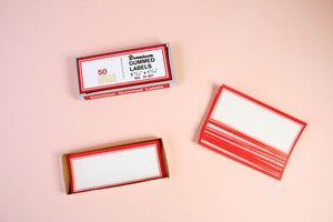 Image of Vintage Dennison rectangular labels