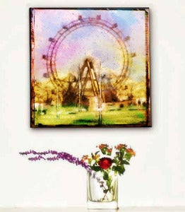 Image of ♥Impressionist Retro Art Canvas-Ferris Wheel ♥