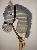 Image of Hobby Horse (grey stripe wool) SALE!