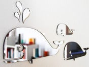 Image of Shatterproof Whale Family Mirrors