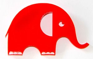 Image of Red Elephant Brooch