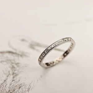 Image of platinum & rose-cut full eternity ring