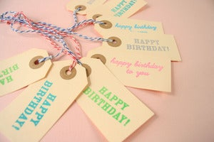 Image of Happy Birthday Gift Tags