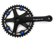Image of Blue stars -  Black chainring