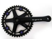 Image of Purple stars - Black chainring