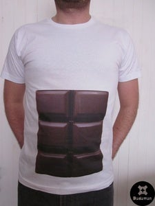 Image of T-shirt 6pack abs chocolate tabs by Dadawan