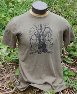 Image of Lover Trees on Men's Hemp in Deep Sage