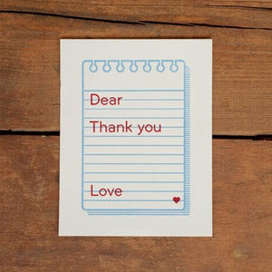 Image of Thank You Memo Note Card