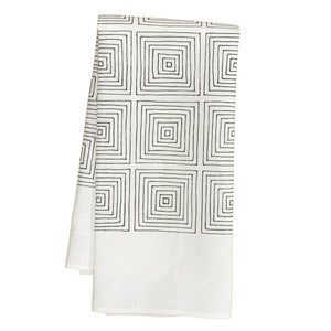 Image of White Squares Tea Towel
