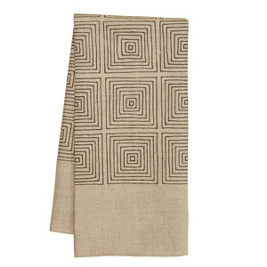 Image of Natural Squares Tea Towel