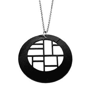 "Image of VLING CLASSIC ""DECCA"" Necklace made from a recycled vinyl record."