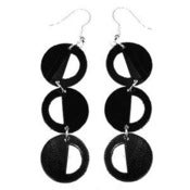"Image of VLING CLASSIC ""CADENCE"" Earrings made from a recycled vinyl record."