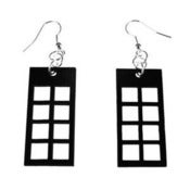 "Image of VLING CLASSIC ""COTILLION"" Earrings made from a recycled vinyl record."