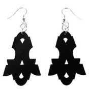 "Image of VLING CLASSIC ""VOCALION"" EARRINGS made from a recycled vinyl record."