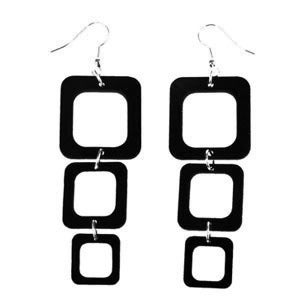 "Image of VLING CLASSIC ""ELEKTRA"" Earrings made from a recycled vinyl record."