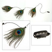 Image of SALE! Peacock Feather Clip In Hair Extension