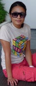 "Image of PMS ""Rubix"" Tee in Light Grey"