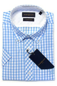 Image of HENRI LLOYD NAIRN SKY BLUE PLAID SHIRT