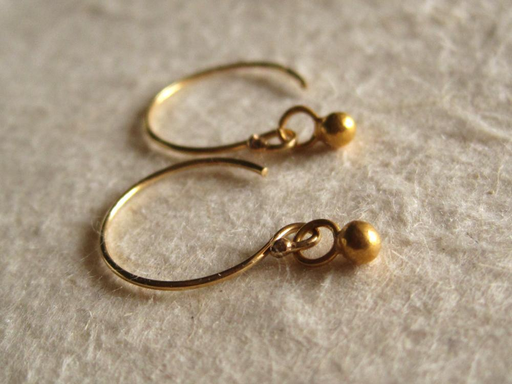 Image of Tiny gold ball dot earrings