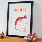 Image of 'Cheeky Boy' Personalised Print