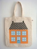 Image of Canvas 'house' print shoppers