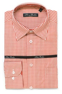 Image of KLAUSS KL11703 ORANGE PLAID SHIRT