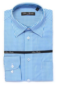 Image of KLAUSS KL11703 INDIGO PLAID SHIRT
