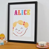 Image of 'Happy Girl' Personalised Print