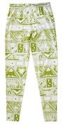 Image of Stamp Sheet Print Leggings (olive)